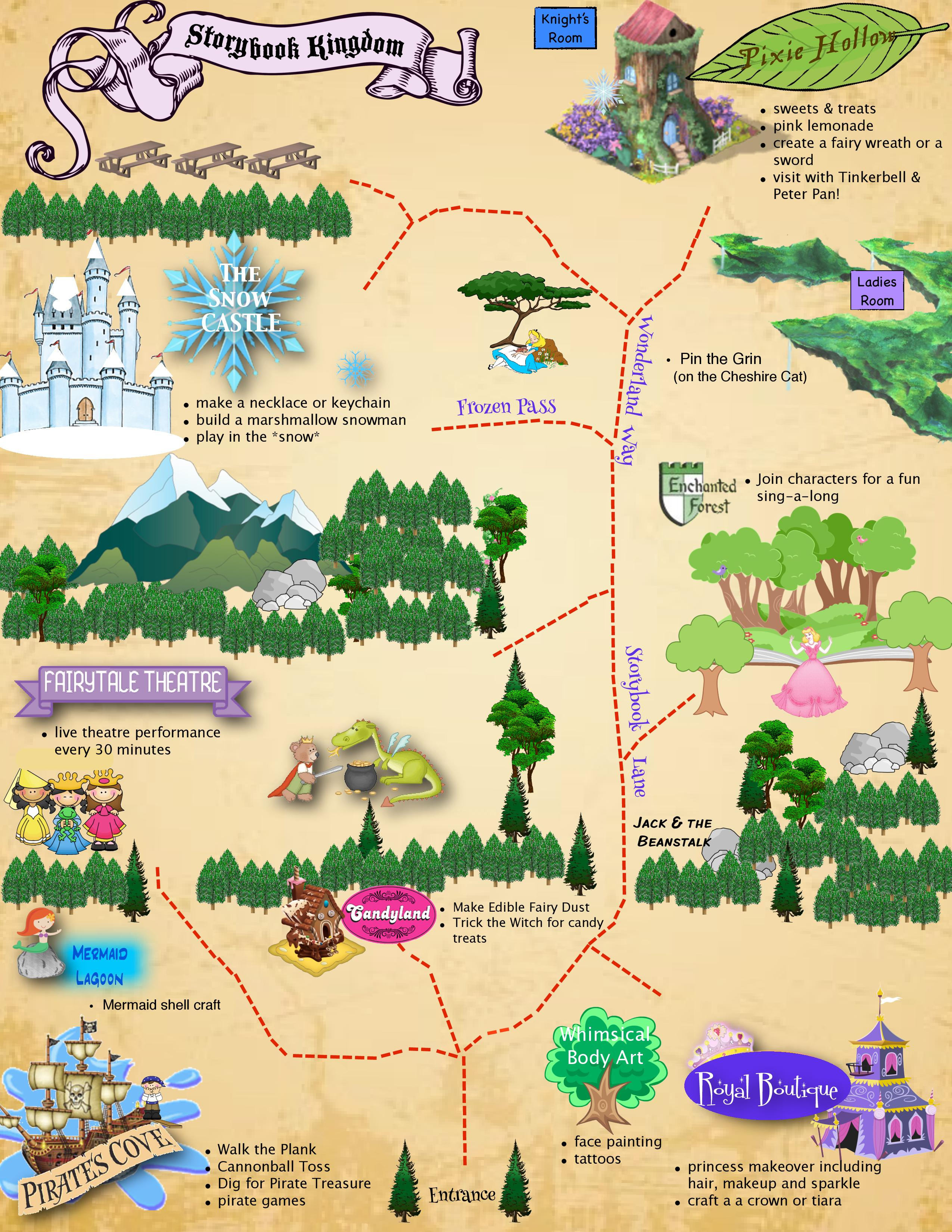Storybook Lane Map